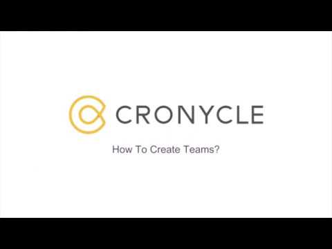 Create Teams from Members of Your Cronycle