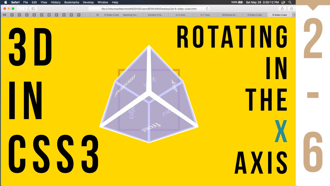 3D in CSS3 - Rotate in X Axis 2/6