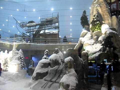 Dubai, Emirates Mall, Snow hill