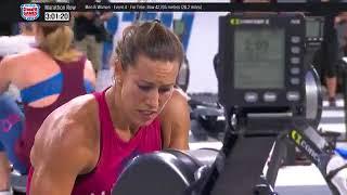 The 2018 Crossfit Games Individual Marathon Row Women's Winner Finish Event 4 Day 3
