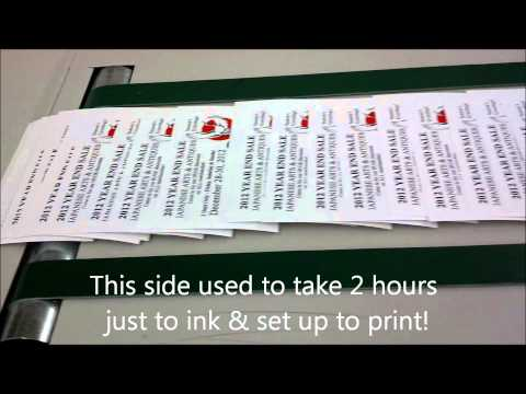 Postcard Printing San Diego Using Our Xante Press