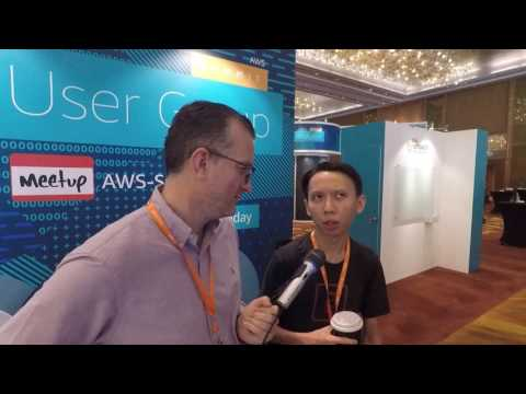 Chatting with a frontend GOD at AWS summit Singapore
