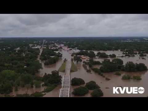 KVUE - Drone Vue video of flooding in La Grange