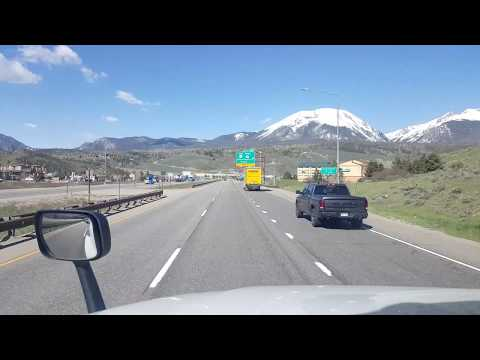 BigRigTravels Eisenhower Tunnel and descent on I-70 West in Colorado-June 4, 2019
