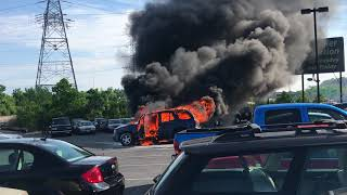 🔥🔥🔥 fire car in Cincinnati 6/20/2018