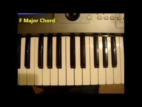 How To Play An F Major Chord On Piano And Keyboard Youtube