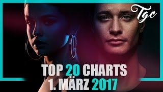 "TOP 20 SINGLE CHARTS - 1. MÃ""RZ 2017"