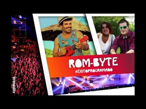 El nombre de la banda y el eslogan. ROM-BYTE.