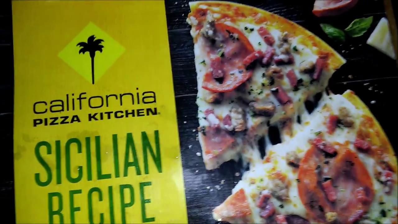 California Pizza Kitchen Sicilian Recipe Review - YouTube
