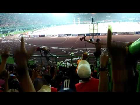 Ultras persija (curva nord persija) at bekasi - field of gbk- Persija Jakarta vs Madura United
