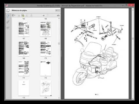 honda goldwing gl1500 service manual manuel de reparation rh youtube com goldwing gl1500 service manual gl1500 service manual free download