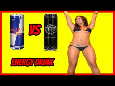 Healthy Energy Drink Review - Health Energy Drink Red bull vs Thunder