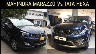 Mahindra Marazzo vs Tata Hexa WalkAround Comparison || Which is Best ?