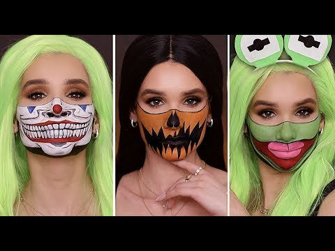 QUICK & EASY Last Minute HALLOWEEN MAKEUP Looks! *DIY MASK* thumbnail