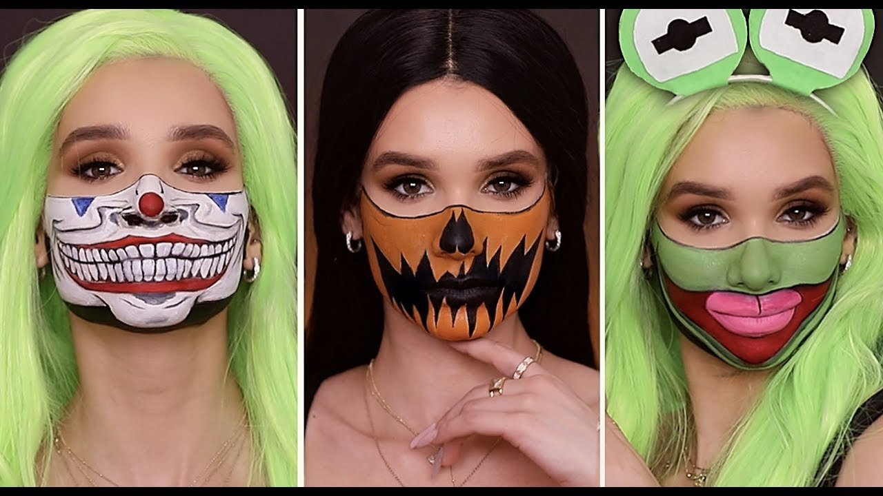 Quick Easy Last Minute Halloween Makeup Looks Diy Mask Youtube