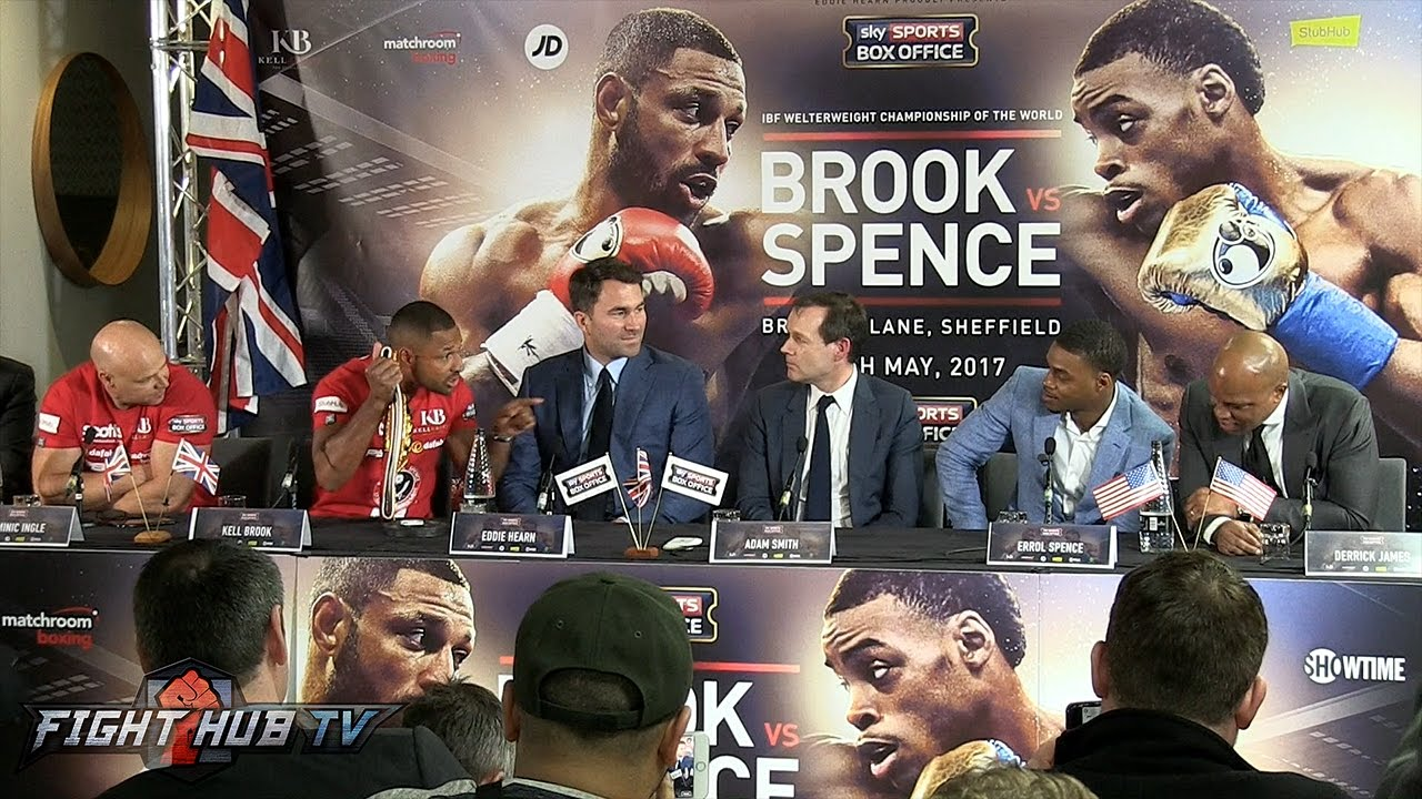 Image result for brook vs spence press conference