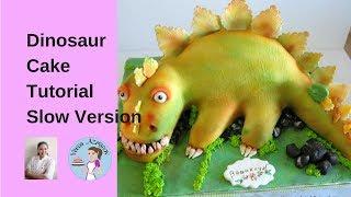 dinosaur cake full video cake decorating tutorial veena s art of cakes