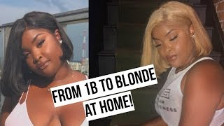 From dark to blonde! How to bleach/tone your hair at home! Beginner friendly!