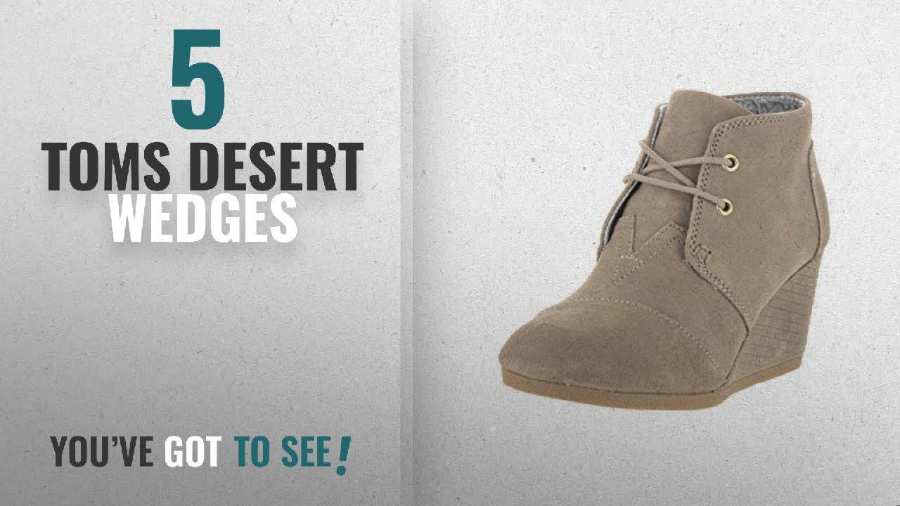 1c109c82e208e Top 5 Toms Desert Wedges [2018]: Toms Desert Wedge Boot - Women's (9.5 B(M)  US, Desert Taupe