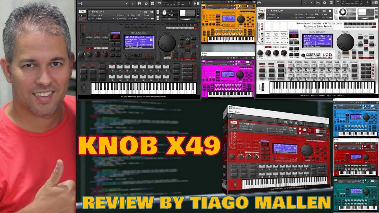 Download KNOB X49 FOR KONTAKT - (YAMAHA MX49/61 VST) by TIAGO MALLEN #MX61 #MX49