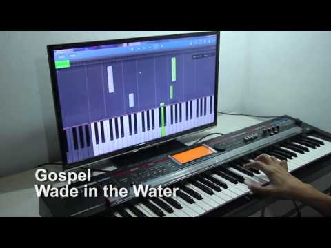 Learning to play Wade in the Water by Gospel  on the piano with Synthesia and PianoMaestro