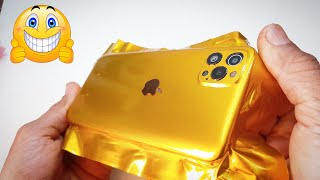 DIY | VIVO convert iphone 12 pro max - wrapping cell phone in foil - wrapping paper phone