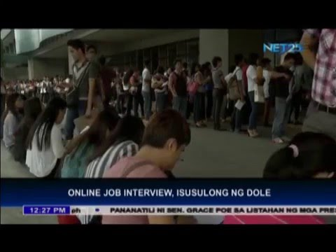 DOLE promotes online job interview