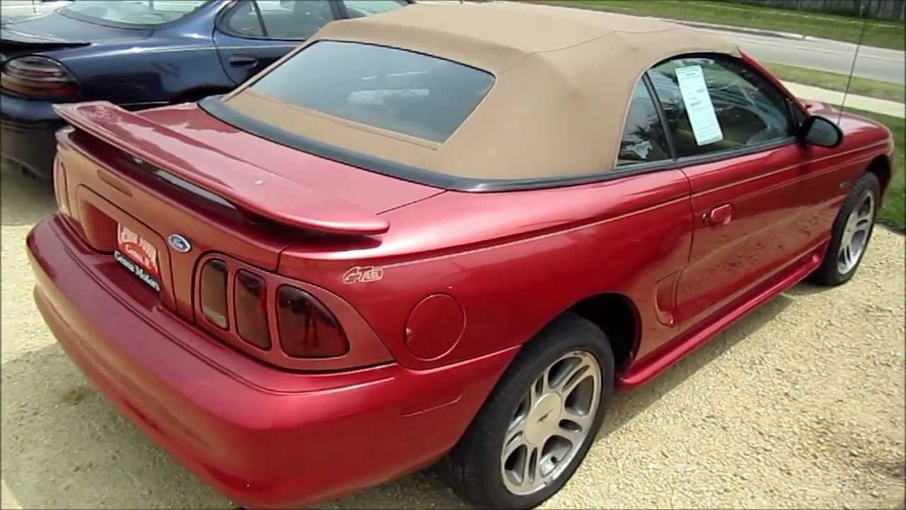 1997 ford mustang gt convertible start up walk around and review youtube