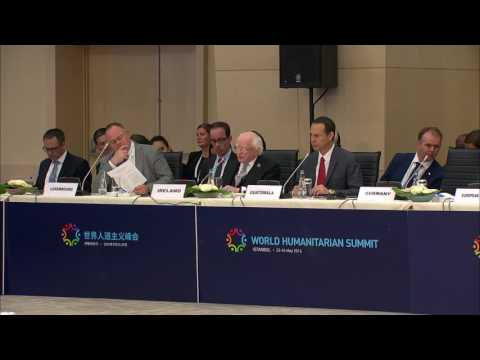 Remarks by President Higgins at the World Humanitarian Summit - Day 1