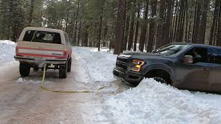 K5 Blazer & Suburban's quest for snow wheeling in AZ continues pt 2