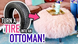DIY Ottoman Made From a TIRE! - HGTV Handmade