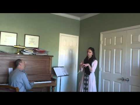 John Nix teaching demonstration with a soprano