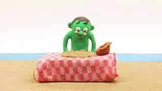 Magic cake 💕Superhero Play Doh Stop motion cartoons