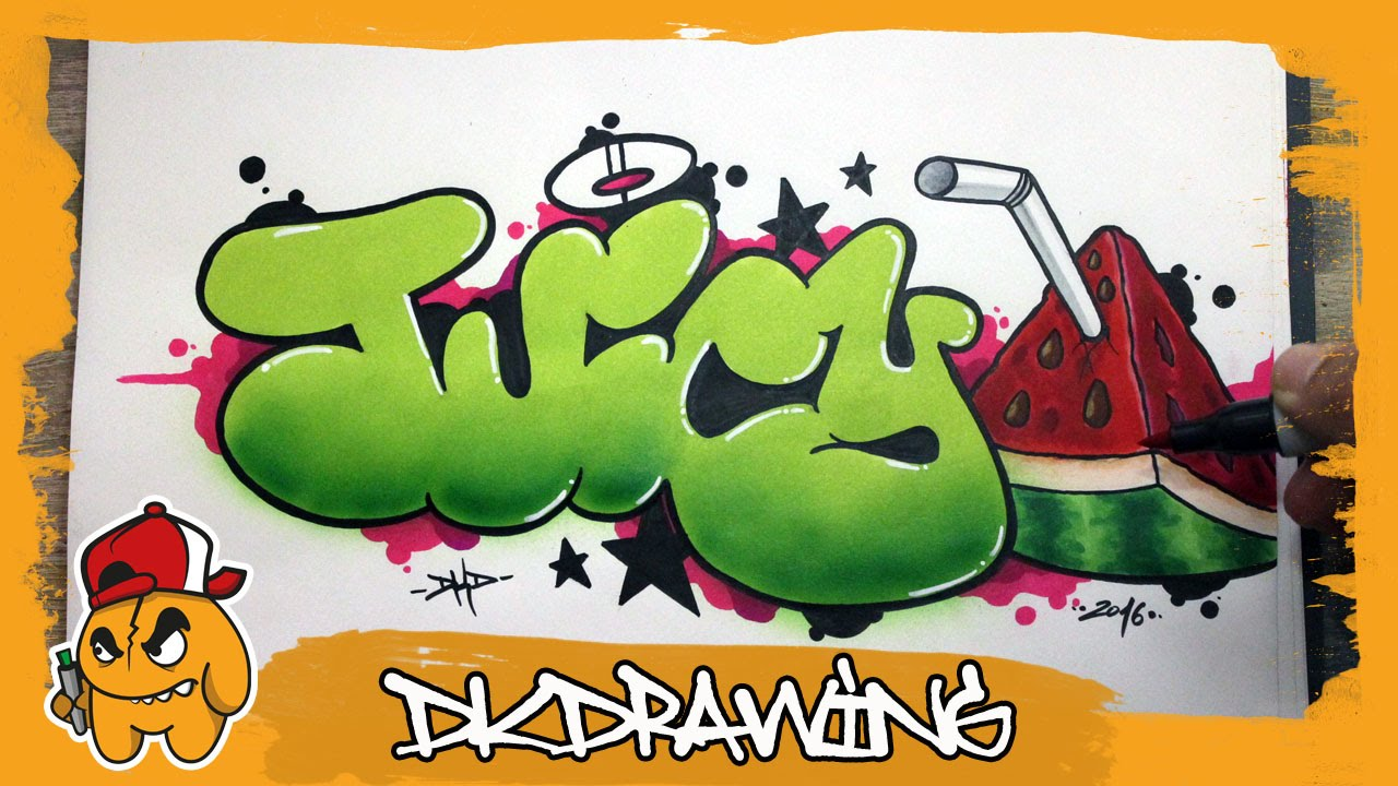 Graffiti Tutorial How To Draw Juicy Graffiti Bubble Style Letters
