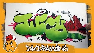 Graffiti Tutorial - How to draw juicy graffiti bubble style letters(Etsy: https://www.etsy.com/de/shop/DKDrawing This is my graffiti workshop. The next weeks i want to show you how to draw graffiti step by step. This video is ..., 2016-07-05T16:32:25.000Z)