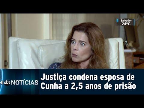 Justiça condena Claudia Cruz, esposa de Cunha, a mais de 2 anos de prisão | SBT Notícias (19/07/18)