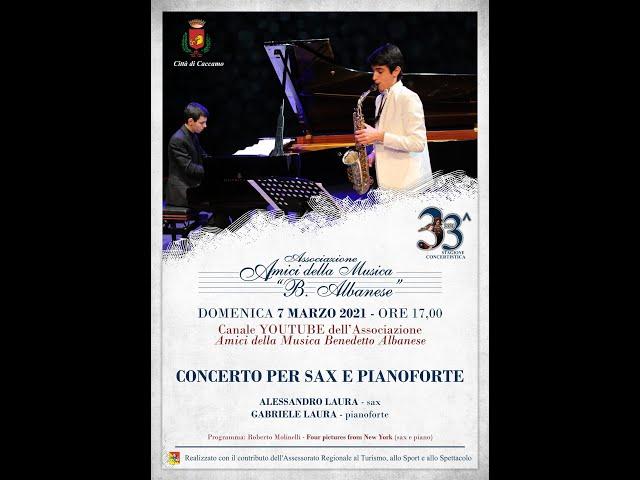 Concerto per sax e pianoforte di Alessandro e Gabriele Laura (7 marzo 2021)