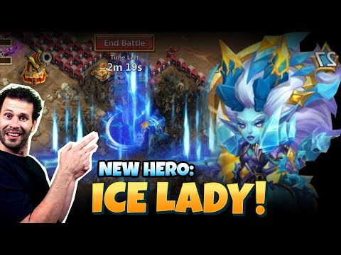 Ice Lady In ACTION Full Review How To Set Up Castle Clash