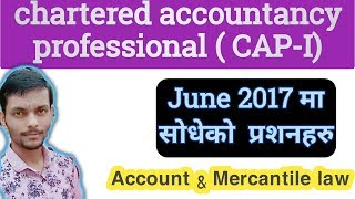 Gambar cover CAP-I Suggested questions | june 2017|Accounts and mercantile law | Aashik info