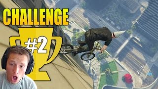 BMX Down the Maze Bank Tower and Survive! - Grand Theft Auto 5 Challenge #2 (GTA Online Gameplay)