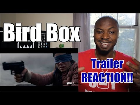 Bird Box Official Trailer Reaction 2018 Sandra Bullock Sarah