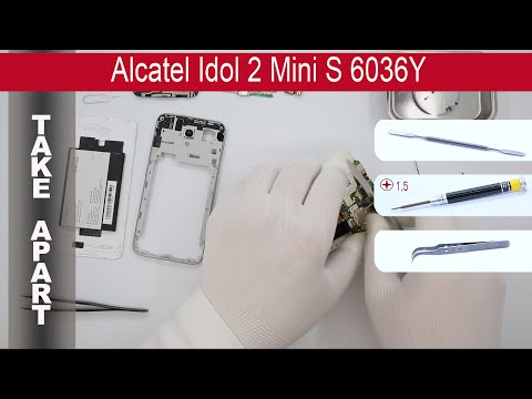 How to disassemble 📱 Alcatel Idol 2 Mini S 6036Y, Take Apart, Tutorial