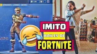 FORTNITE EN LA VIDA REAL - IMITANDO BAILES DE FORTNITE