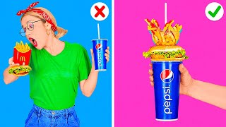 SMART FAST FOOD HACKS || Cool Life Hacks with Your Favorite Food and Funny Situations by 123GO! FOOD