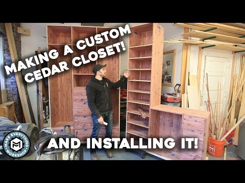 Making a Custom Cedar Closet + Install!