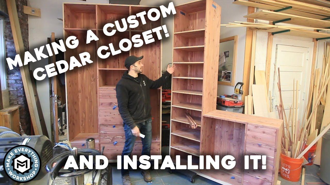 Delightful Making A Custom Cedar Closet + Install!