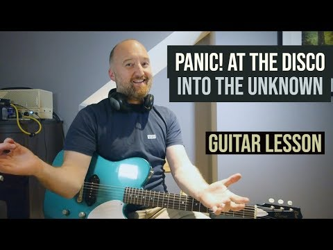 """PANIC! AT THE DISCO """"Into The Unknown"""" Guitar Lesson   Frozen 2"""