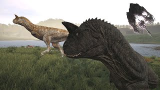The Isle - Life of a Carno  Massive Allosaur Group! (GamePlay)