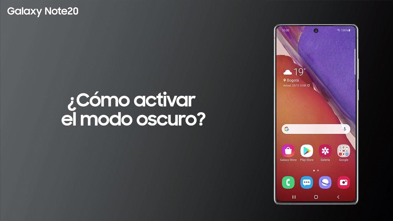 Samsung | Producto | Galaxy Note 20 | Cómo activar el modo oscuro