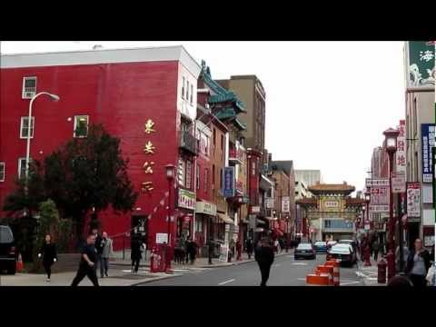 Philadelphia Chinatown - Short HD Video Tour, Pennsylvania USA